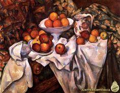 CEZANNE. Bodegón con manzanas y naranjas. 1900.