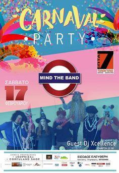 Οι MIND the BAND σ' ένα ξέφρενο καρναβαλικό πάρτι στο επτά τέχνων τόπος στην Κέρκυρα!