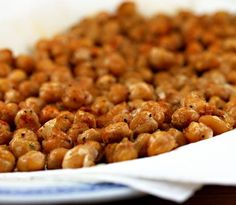 Roasted chickpeas, tossed with cumin and paprika.