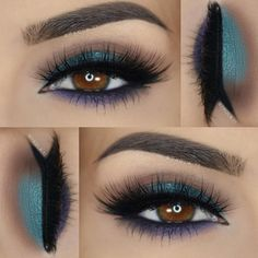 "Tashana/makeupartist ✈️ on Instagram: "" Some of my favorite colors. Just the perfect look. What do you all think about this look? #comment @paola.11 """