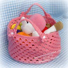 Amimammie: Free crochet pattern basket