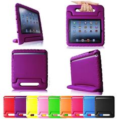 iPad case for kids in fun colors Fintie Casebot Kiddie Series Shock Proof Handle Case for iPad