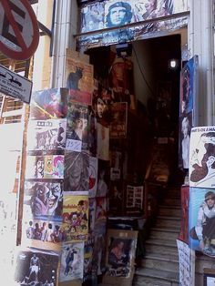 Cool Record Shop in San Telmo district
