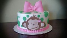 Mod Monkey smash cake from Cakes by Bethany- www.facebook.com/cakesbybethany
