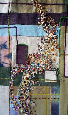 Sharon Boggon's contemporary embroidery! Absolutely gorgeous.
