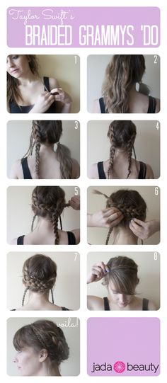 #HAIR #TUTORIAL: Taylor Swift's Grammys 'do. Pin now, try later.