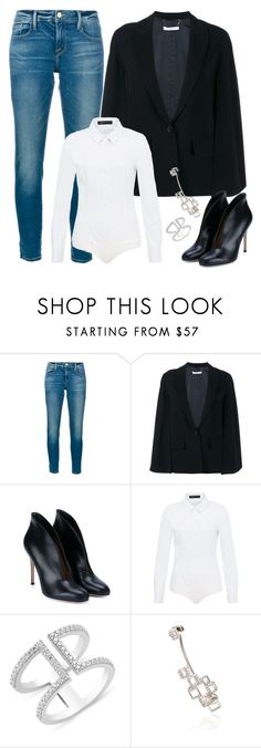 """""""Untitled #2905"""" by vero1307 ❤ liked on Polyvore featuring Frame Denim, Givenchy, Gianvito Rossi, Hallhuber and Runa"""