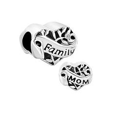 Pack of 10 Beads Wholesale  Flower Family Tree Love Mom European Charms Fit Pandora Bracelet >>> Read more  at the image link.