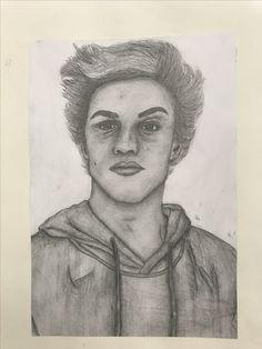 Pencil portrait of Ethan Dolan (ethandolan)