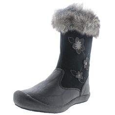 Hanna Andersson Girls Brigitta Little Kids Faux Leather Winter Boots