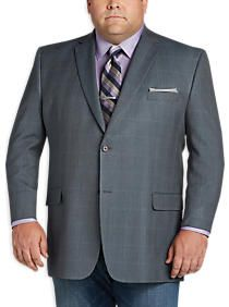 Joseph Feiss Gold Portly Sport Coat, Gray & Blue Check | TODD ...