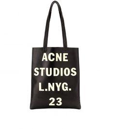 "Acne Studios ""Rumor"" metallic leather tote, $480.10."
