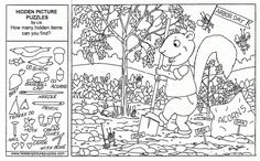Coloring Pages For Kids: Hidden Picture Puzzles Free