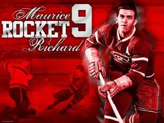 """Maurice """"The Rocket"""" Richard became the first NHL player to score 500 points, October 1957 Ice Hockey Players, Nhl Players, Hockey Teams, Montreal Canadiens, Montreal Hockey, Boston Bruins Logo, Maurice Richard, Hockey Hall Of Fame, Hockey World"""
