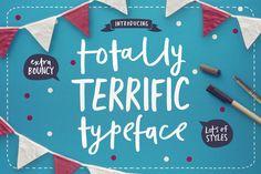 Totally Terrific Typeface by Sam Parrett on @creativemarket