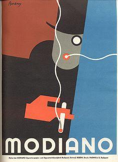 """Design brochure for """"Modiano"""", 1930. Author Robert Bereny."""