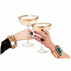 Champagne Toast (print) - My Store