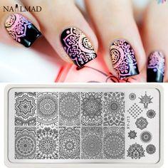 1pc Mandala Nail Art Stamp Plate Mandara Plate Paisley Stamping Image