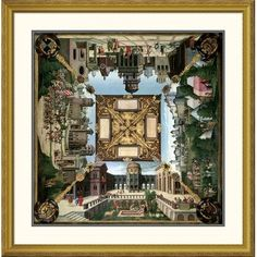 "Global Gallery 'Story of David' by Hans Sebald Beham Framed Graphic Art Size: 40"" H x 39.56"" W x 1.5"" D"