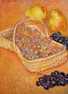 Basket of Grapes, Quinces and Pears ~ Claude Monet