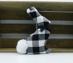 Farmhouse Fabric Bunny / Easter Bunny / Black and White Buffalo Plaid Etsy Handmade, Handmade Items, Handmade Gifts, Buffalo Plaid Fabric, Farmhouse Fabric, Spring Home Decor, Black Decor, Cute Bunny, Easter Baskets