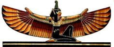 Ma'at was the Egyptian goddess of truth, justice, morality and balance. Maat sat in judgment over the souls of the dead in the Judgment Hall of Osiris where the dead person's heart was placed on a scale, balanced by Feather of Ma'at (her symbol that she wore on her head was an ostrich feather).