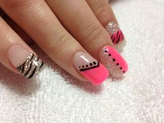 Pretty in pink gel nails