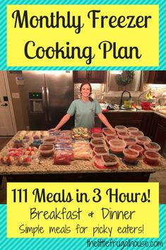 Monthly Freezer Cooking Plan - Make 111 Meals in 3 Hours - The Little Frugal House