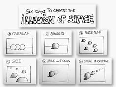 Space is one of the seven Elements of Art .        Space is the area around, above, and within an object. But the feeling of space in...