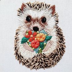 This lil guy is the cutest thing you will see today by @namaste_embroidery #dmcembroidery #dmcthreads