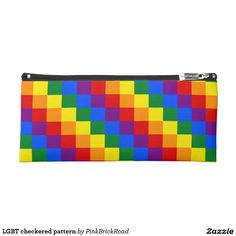 LGBT checkered pattern Pencil Case