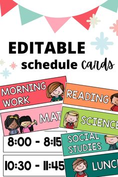 Classroom Schedule, Class Schedule, Kindergarten Classroom, Classroom Themes, Classroom Organization, Classroom Management, Early Elementary Resources, Elementary Education, Daily Schedule Cards