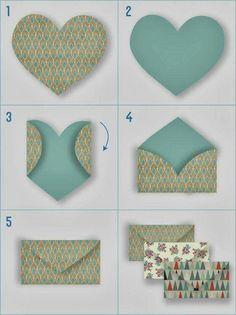 Origami for Everyone – From Beginner to Advanced – DIY Fan Diy Paper, Paper Crafting, Paper Art, Origami Paper, Diy For Kids, Crafts For Kids, Papier Diy, Diy Envelope, Heart Envelope