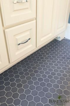 Ivory And Gray Raised Vinyl Flooring Google Search Hex Tile Subway