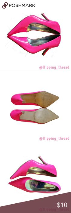 Pulse Hot Pink Point To Pumps - SIze 9 Pulse Hot Pink Point To Pumps - SIze 9  Good condition, some scuffs and marks. Pulse Shoes Heels