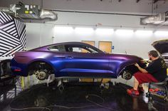 Beautiful satin wrap job on this Ford #Mustang. Work in progress by @201wrap #MakeitStick #PaintisDead