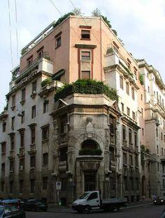 Epoca di costruzione: 1924 - 1927 Edificio per abitazioni Via Gabrio Serbelloni 10-12 Milano (MI) Autore: Andreani, Aldo, progetto