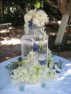 wedding blue and white