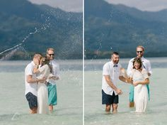 Kāne'ohe Bay sandbar wedding