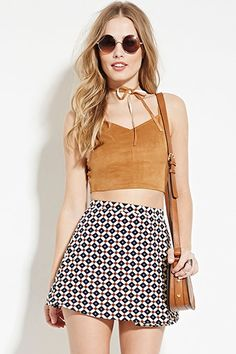 Faux Suede Crop Top | Forever 21 - 2000164815
