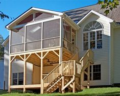 Two-story deck