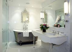 Unique Bathrooms for Exclusive Homes: Chinese Style Bathroom Silver Bath ~ homedesignlovers.com Bathroom Inspiration