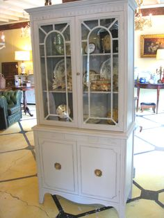 Vintage Mahogany Cupboard painted with a custom mix of Annie Sloan Chalk Paint®