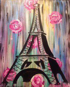 Eiffel Tower acrylics