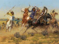 Andy Thomas - Battle of Wolf Creek; Medium: oil on linen kp