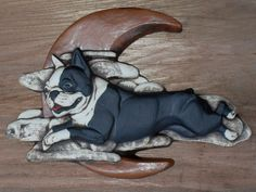 Boston terrier Over the Moon - Debra Bacianga. $35.00, via Etsy.
