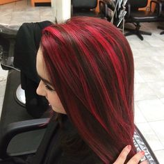 70 Sensational Red Highlights Styles — Flames in Your Hair                                                                                                                                                                                 More