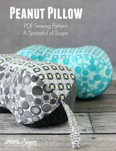 Peanut Pillow  Pdf Sewing Pattern by A Spoonful of Sugar