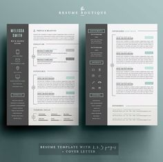 Curriculum vitae template cv template cover letter ms word curriculum vitae template cv template cover letter ms word macpc curriculum vita best resume templates instant download pinterest yelopaper