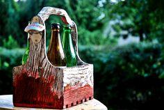 Vintage Reclaimed Wood Beer Box - Carrier Crate - Antique 6 Pack Beer Tote…